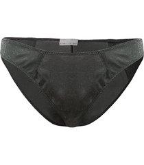 fleur du mal sparkle knit darted bikini briefs - grey