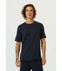 camiseta manga curta em tricô com algodão - unissex