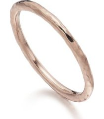 hammered ring, rose gold vermeil on silver