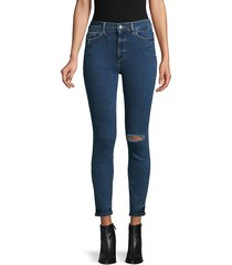 dl1961 premium denim women's farrow high-rise ripped skinny ankle jeans - gresham - size 25 (2)