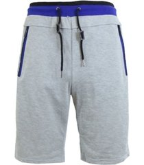 galaxy by harvic men's french terry sweat shorts with contrast trim by waist band and pockets