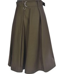 msgm flared belted skirt
