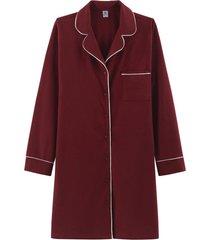 camisola hering chemise manga longa vermelho - vermelho - feminino - dafiti