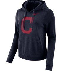 nike women's cleveland indians club pullover hoodie