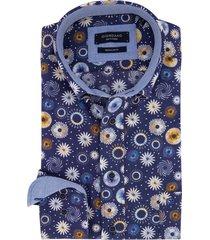 giordano overhemd donkerblauw dessin borstzak