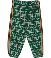 gucci green sports trousers