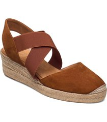cele_21_ks sandalette med klack espadrilles brun unisa