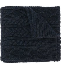 maison margiela chunky knit scarf - blue