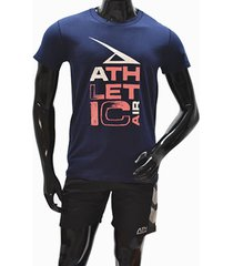 ***camiseta tshirt-azul-rojo athletic air m