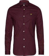 ls slim fit poplin shirt overhemd casual rood lyle & scott