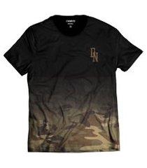 camiseta camuflada marrom street wear di nuevo dn degradê