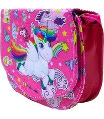 bolsa lua nova unicornio divertida rosa - roxo - menina - dafiti