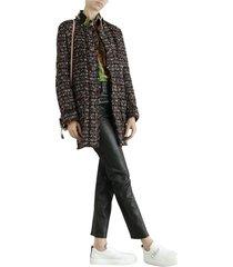 coat with bouclé effect