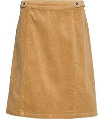 frhacorduroy 3 skirt kort kjol beige fransa