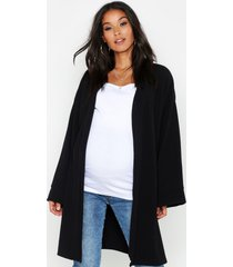 maternity kimono duster jacket, black
