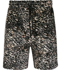 han kjøbenhavn animal print shorts - black