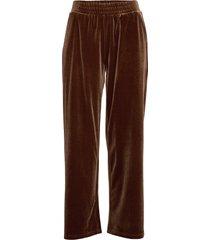 pants in velvet pantalon met rechte pijpen bruin coster copenhagen
