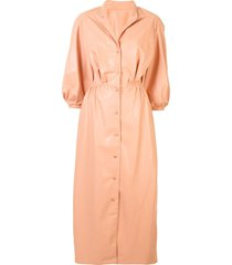 lapointe faux leather dress - pink