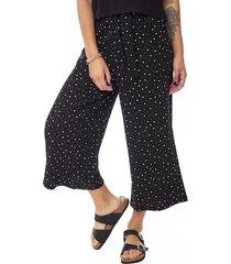 pantalón culotte lazo i mujer negro puntos corona