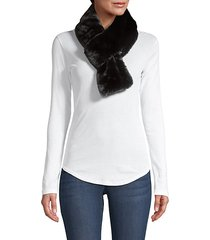 faux-fur pull-through short scarf