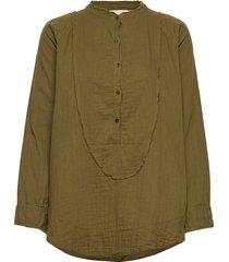 evolet blouse lange mouwen groen rabens sal r