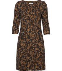 frfivam 1 dress knälång klänning brun fransa