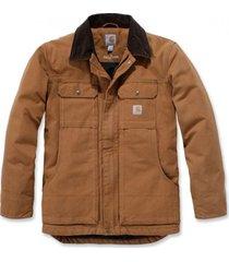 carhartt jas men full swing traditional coat brown-xl