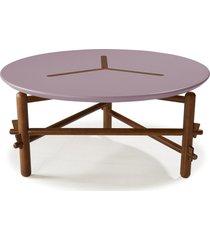 mesa de centro twist 761 cacau/lilás - maxima