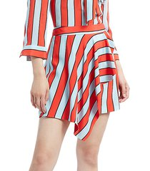 nicky striped silk mini skirt