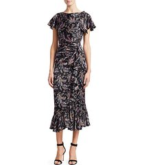 nannon floral short sleeve dress