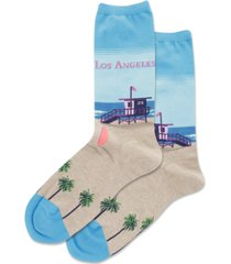 hot sox los angeles crew socks