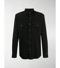 tom ford western snap-buttons shirt