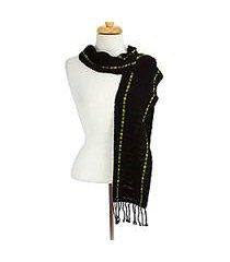 cotton scarf, 'mexican evening' (mexico)