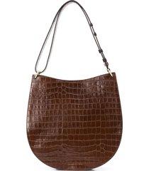loeffler randall caroline twisted ring shoulder bag - brown