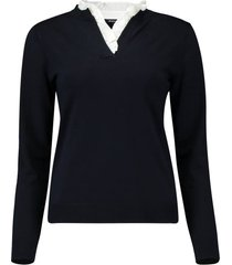trui pullover donkerblauw