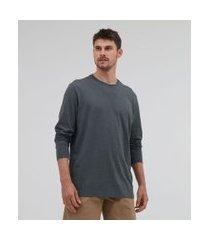 camiseta comfort em algodão peruano manga longa básica | marfinno | verde | g