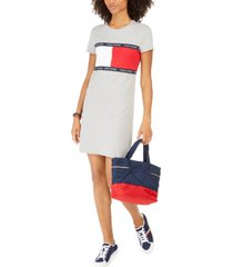 tommy hilfiger signature-graphic t-shirt dress, created for macy's