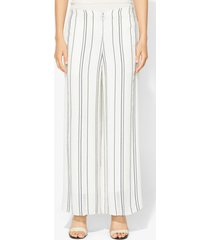 proenza schouler crepe striped pants white 4