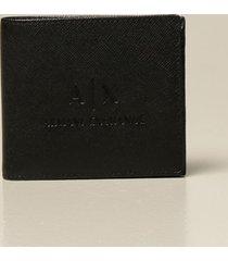 armani collezioni armani exchange wallet armani exchange wallet in synthetic leather with logo