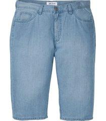 bermuda lunghi in jeans con tencel™ e lino regular fit (blu) - john baner jeanswear