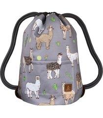grey llamas dwustronny plecak sack it!