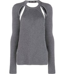 backless merino knit top