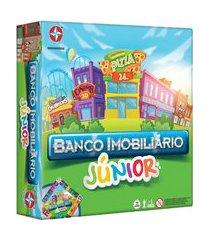 jogo banco imobiliário estrela júnior com acessórios colorido