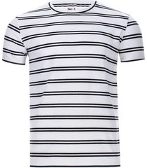 camiseta hombre doble linea color blanco, talla l