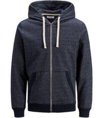 jack & jones men's melange zip hoodie long sleeve sweatshirt