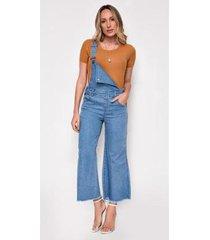 macacão jeans zait pantacourt mona - feminino