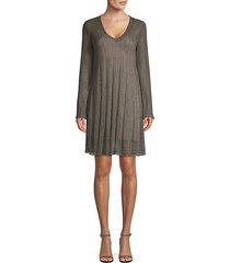 lurex v-neck shift dress