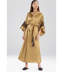 natori jolie silk sleep & lounge bath wrap robe, women's, 100% silk, size xs