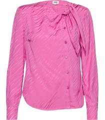 madison blouse blouse lange mouwen roze twist & tango