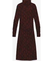 proenza schouler white label snake print turtleneck dress /brown s